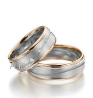 AGR0079-RW- Albaba Gents Diamond Ring Costume Jewelry Factory Design wedding rings in surgical steel Umode Fashion Band