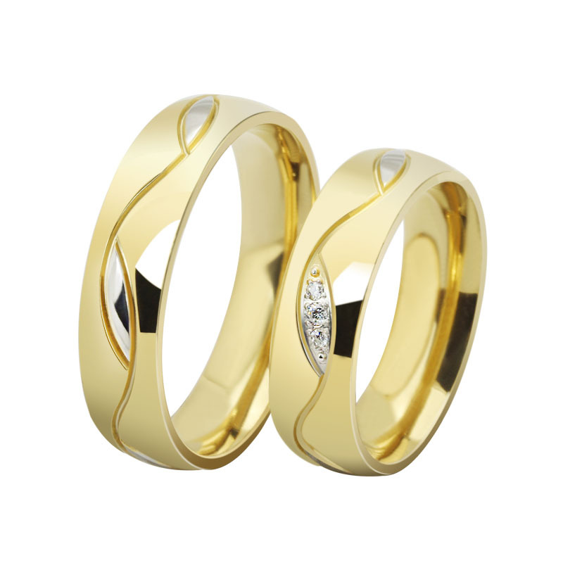 matching dome products gold band rings classic half yellow bands wedding ring