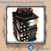 Factory Wholesale Black/White/Clear Rotating Acrylic Lipstick Organizer