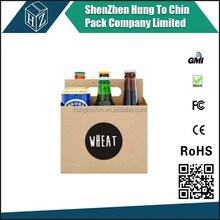 Hungtochin Pack kraft paper 6 bottle beer/wine pack carrier box