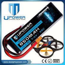 Upower rc lipo battery pack 7.4v 850mah rc helicopter battery for RC helicopter airplane