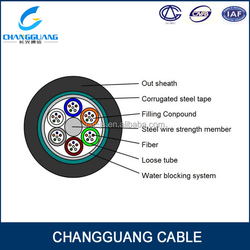manufacturer supply Stranded loose tube armored cable GYTA/S fiber optic cable Changguang communication