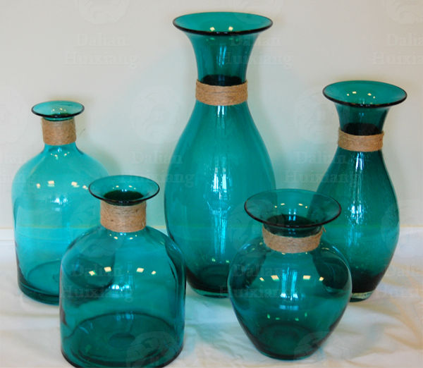 China Wholesale Handblown Cheap Tall Glass Vases With For