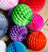 Fashion decoration paper flower honeycomb paper craft with many sizes