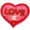 Presentes dia das mães vermelho bonito plush mini urso de pelúcia sabonete flor buquê barato dia das mães decoração