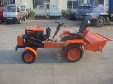 mini tractor with hydraulic tiller