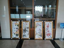 carved stereopicture,Modern Chinese Ink Paintings