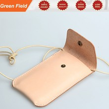 Cross body leather pouch, lady small leather pouch cell phone cross body leather pouch