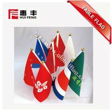 banderas banderas de escritorio con soporte de plástico