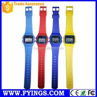 promotion digital fashion child wrist watch plastic strap