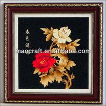 caliente de la venta de carbón activado de la pared cuelgan imágenes( jardín de primavera) artesanías para la decoración de casa