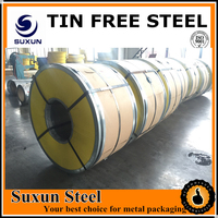 TFS SHEETS COILS with high quality for BEER cap tin can making metal package