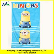 Wholesale factory velour lovely cartoon custom photo printed microfibre towels
