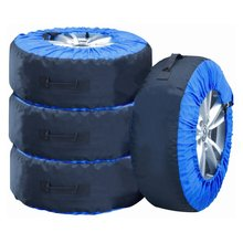 TOP WHOLESALE New style Universal Spare Car Tyre Cover Storage and Carry Bag Cover holder Tote tire cover