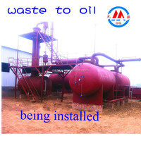 NEWEST Generation200-ton Used Motor Oil to Diesel Distillation Plant