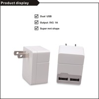 High efficiency mini portable dual usb charger for mobile phone