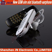 2015 new arrival bluetooth earphone and mobile phone with GSM SIM CARD SLOT ultra slim mini oled cell mobile phone