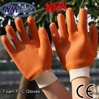 NMSAFETY foam pvc work gloves pvc gloves chemical resistance