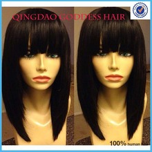 Sale Long Bob Haircut Wigs,double layer bangs Peruvian virgin hair glueless full lace wig&lace front wig rani hair aliexpress uk