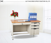 factory direct furniture metal office computer steel table with three drawers/steel table