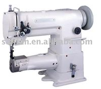 Double needle short long arm sewing machine