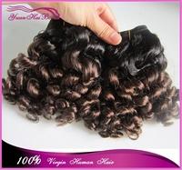 alibaba hot products two tone brazilian virgin hair ombre human hair weaves funmi hair bouncy curls