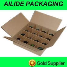 durable standard beer bottle carton box with partition