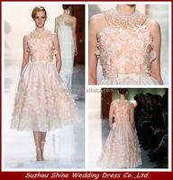 YED11175 Halter Sleeveless Knee Length Satin Skirt Elie Saab Evening Dresses For Sale