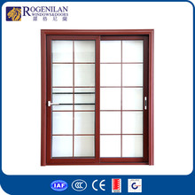 ROGENILAN 80# exterior metal leaded glass 3 panel french doors