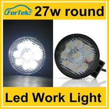 venta al por mayor de china 27w ronda luz de trabajo led barra de luz