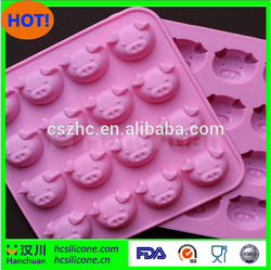 NEW Arrival, 16 grid Pig Head Shaped Silicone Cake Cookie Muffin Jelly , Baking Tools, Loaf Soap Mold