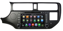 8'' Android 4.4.4 OS Car dvd gps with A9 Quad Core for Rio Supports SWC,RDS,OBD,Mirror Link, AUX IN
