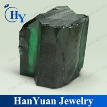 wholesale cubic zirconia raw green stone