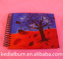 Plain dry mount paper slip sheet photo album