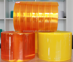 Orange PVC anti-insects strip curtains