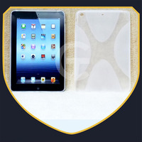 2014 New product clear transaprent color anti slide x line tpu gel case cover for ipad air 2