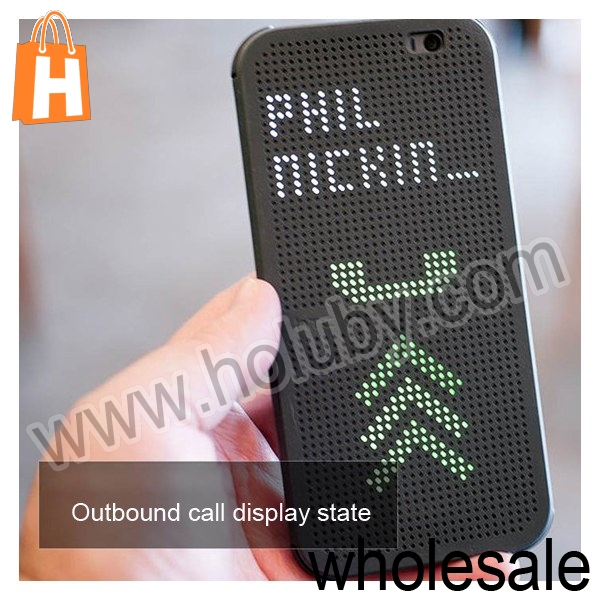 2014 Factory New Products Novel Dot View Protective Flip Hard PC Case for HTC One 2 M8, For HTC One M8 Dot View Case Cover