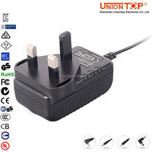 Electronic wall plug 2.4v dc adapter 240v ac 50hz adapter 6w