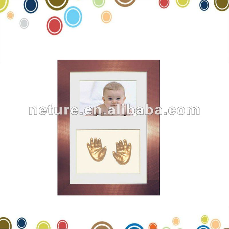 Ребенка отпечаток руки литья рамы детские клей славы комплект