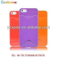 Credit Card Slot Holder Hard Cover Case for iPhone5