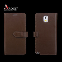 Good quality genuine leather wallet case for samsung note 3