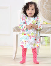 Fashion style baby girls silk pantyhose wholesale with printed