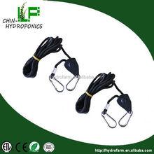 """polypropylene 150lbs 1/8"""" light hanger rope ratchet/ grow light hood 1/8"""" hanger"""
