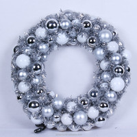 White silver lowes christmas wreaths 10 inch