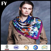 Wholesale China digital printed silk knit scarf winter muffler ladies scarf