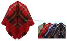 2015 winter fashion checks big stripe cheap Pashmina shawls