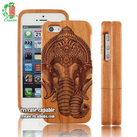 Personal Customized Innovative Ganesh Design Wooden Cell Phone Case.
