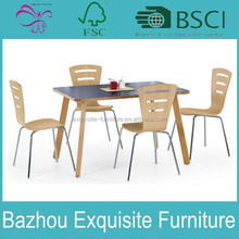 Modern Wood Table & Chairs Kitchen Dining Set Dinette Furniture Espresso