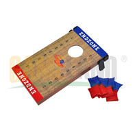 2 in 1 Outdoor Games Wooden Bean Bag Toss Tic Tac Toe Toss Game