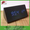 2015 Wooden Blue Led Portable Mini Digital Clock